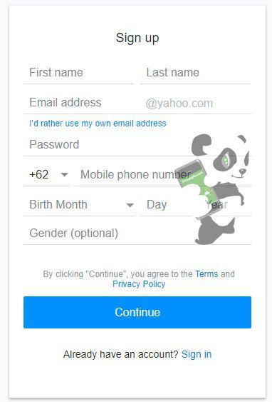 Tutorial mendaftar email di Yahoo