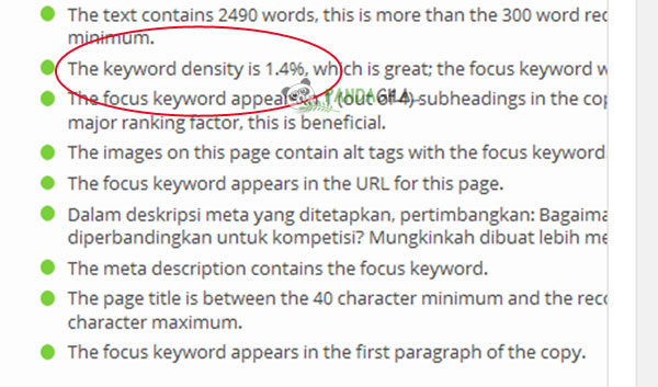 keyword density, yoast seo