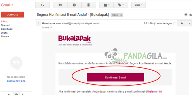 bukalapak, marketplace, toko online, konfirmasi, verifikasi email