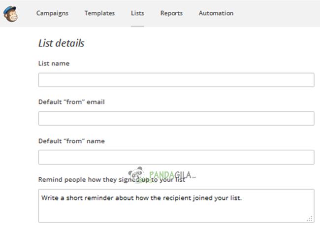 Mailchimp, list, pelanggan