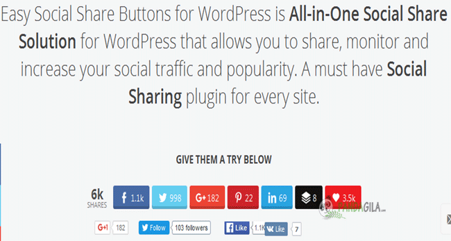 plugin sosial media, easy social share button