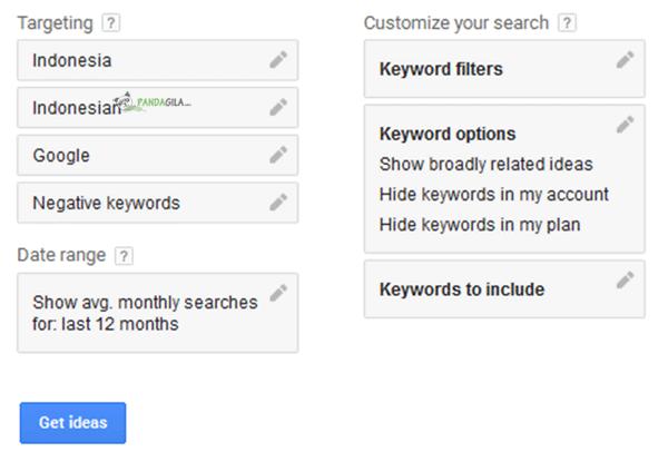 Google Keyword Planner, riset keyword