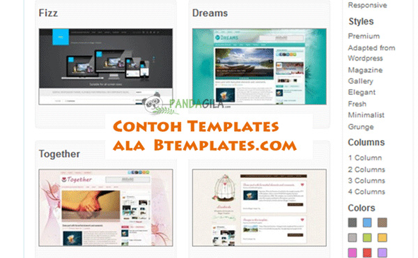 template blogger, Btemplates, desain website