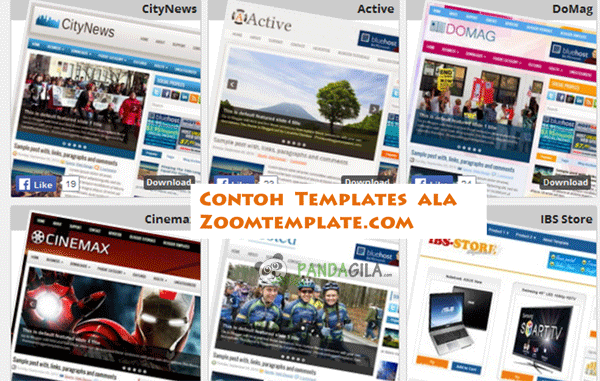 template blogger, desain website, zoom template