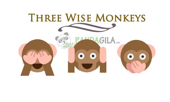 Three Wise Monkeys,inspirasi,peribahasa kuno,Jepang,filosofi