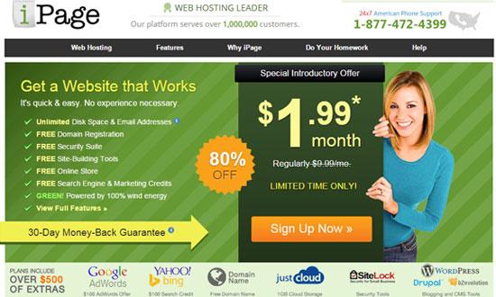 iPage,hosting,web hosting