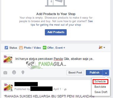 postingan,fanpage,status,facebook,terjadwal