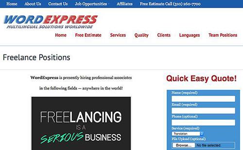 Wordexpress, kerja penerjaman, kerja dari rumah, kerja online