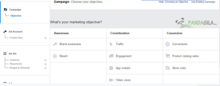 2. Tentukan Objective dari Iklan Anda