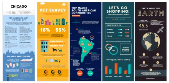 Contoh sample infografis Canva