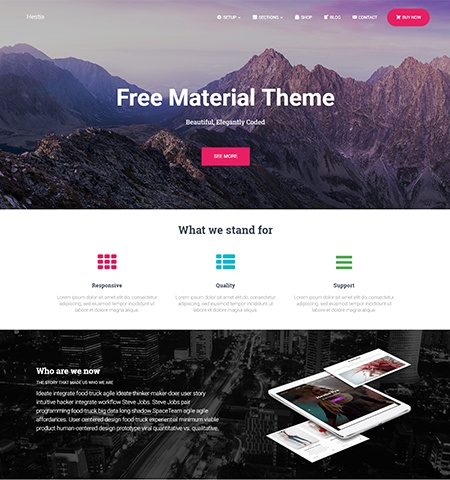 Hestia- Theme WordPress Gratis Responsif