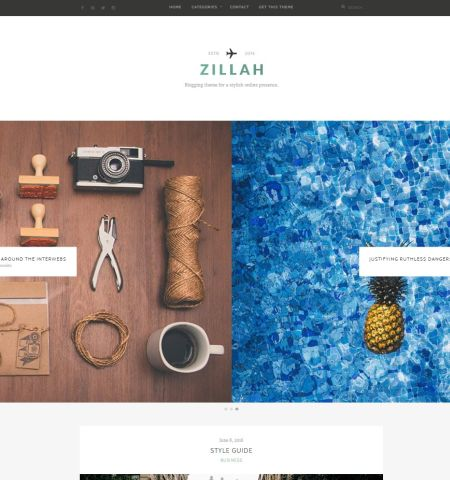 Zillah- Theme WordPress Gratis Responsif