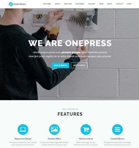 OnePress- Theme WordPress Gratis Responsif