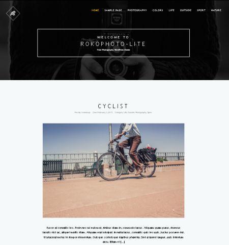 RokoPhoto Lite- Theme WordPress Gratis Responsif