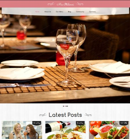 Restaurant Theme- Theme WordPress Gratis Responsif