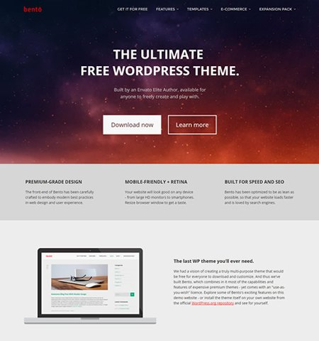 Bento- Theme WordPress Gratis Responsif