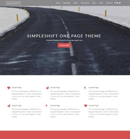 SimpleShift- Theme WordPress Gratis Responsif