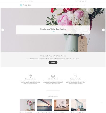 Phlox- Theme WordPress Gratis Responsif