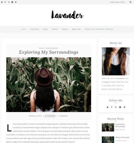 Lavander Lite- Theme WordPress Gratis Responsif
