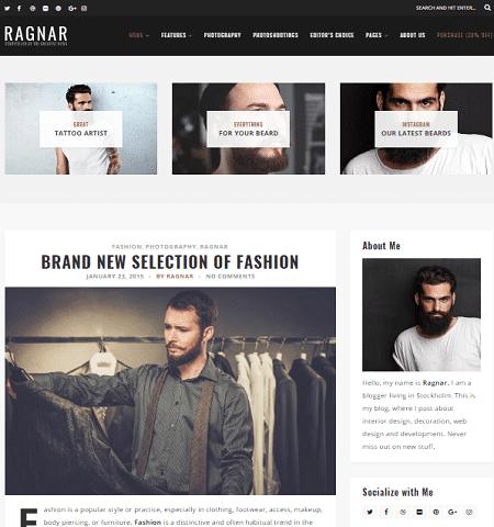 Ragnar Lite- Theme WordPress Gratis Responsif