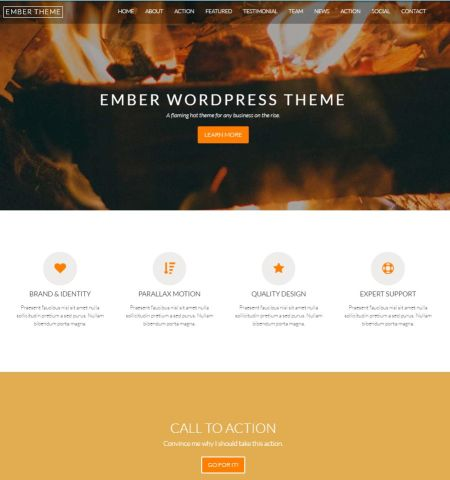 Ember- Theme WordPress Gratis Responsif