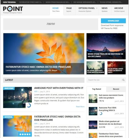 Point- Theme WordPress Gratis Responsif