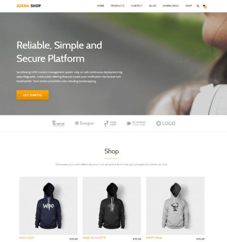 Azera Shop- Theme WordPress Gratis Responsif