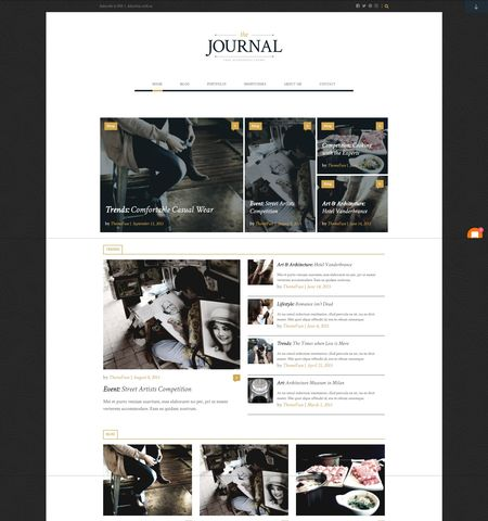Journal- Theme WordPress Gratis Responsif
