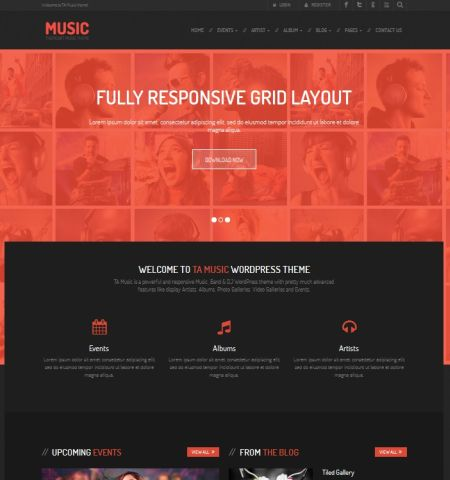 Ta Music- Theme WordPress Gratis Responsif