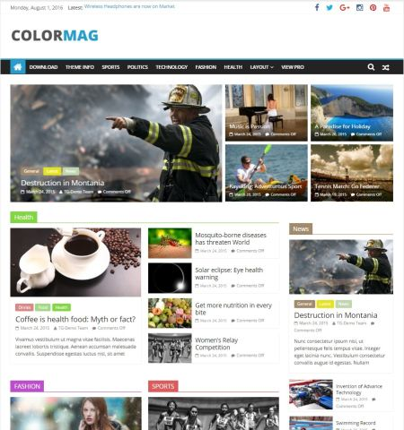 ColorMag-Theme WordPress Gratis Responsif