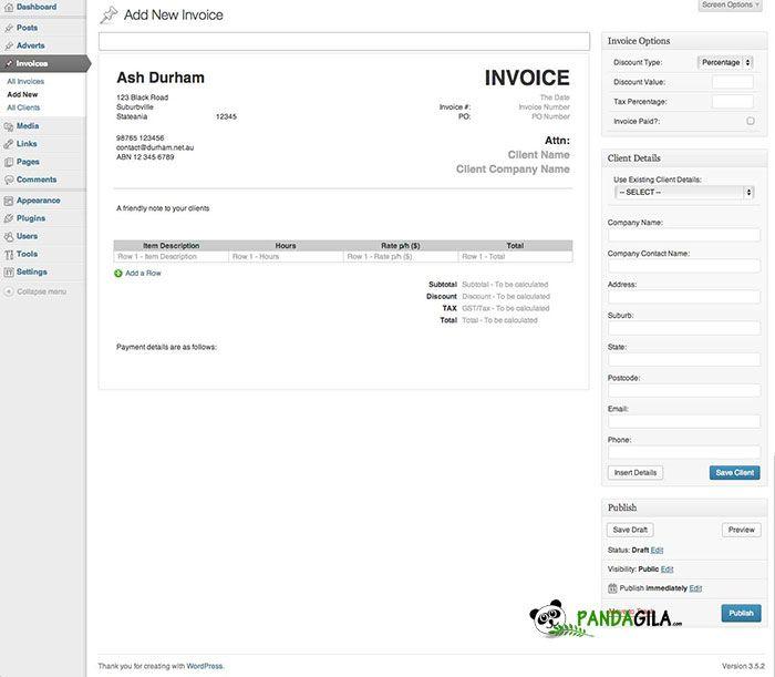 Invoice King Pro - WordPress Plugin