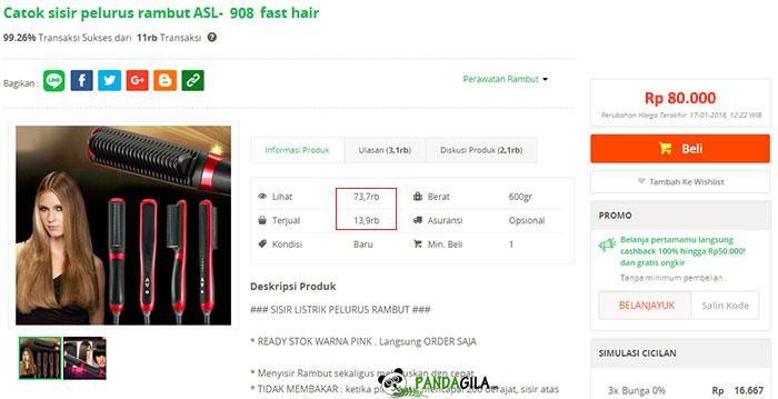 3. Temukan produk dengan harga lebih tinggi dan konversi rate masih sangat baik