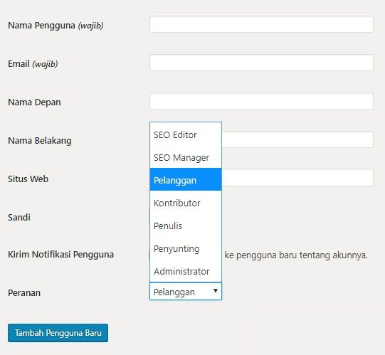 Mengatur User Role di WordPress