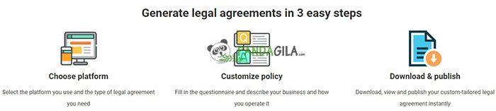 Membuat Privacy Policy dengan WebsitePolicies.com