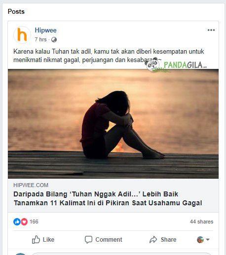 Contoh artikel viral yang menguras emosi pembacanya