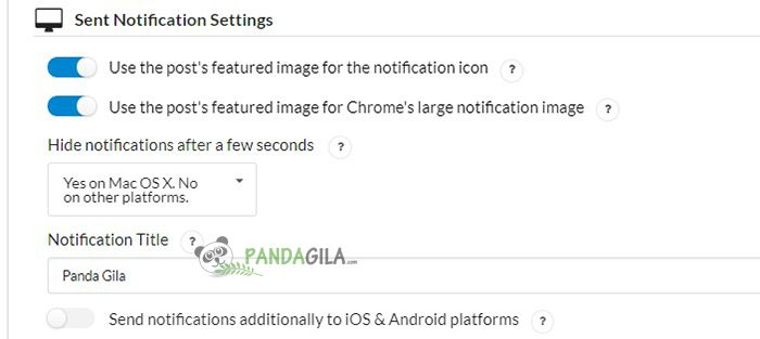 Sent notification setting OneSIgnal