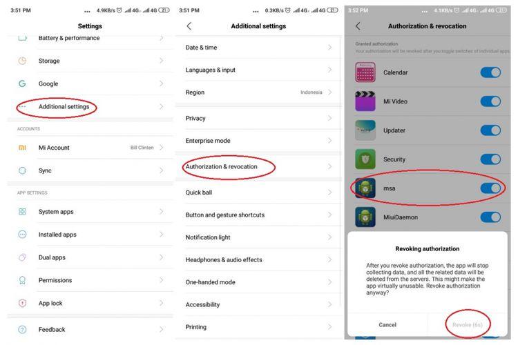 Matikan MSA untuk menghilangkan iklan di Xiaomi