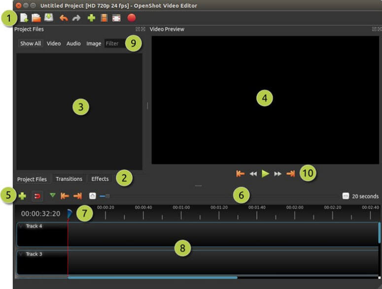 Openshot, video editor gratis tanpa watermark