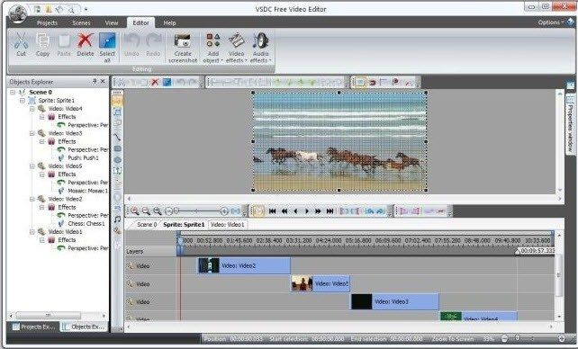 VSDC, video editor gratis tanpa watermark